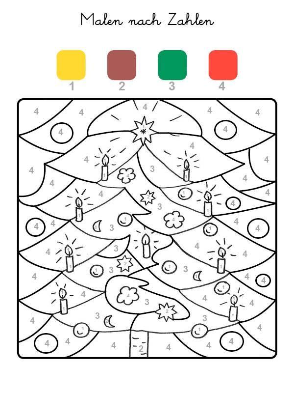 Ausmalbild Malen Nach Zahlen Weihnachtsbaum Ausmalen Kostenlos Ausdrucken Malen Nach Zahlen Ausmalbilder Weihnachten Vorschule Weihnachten