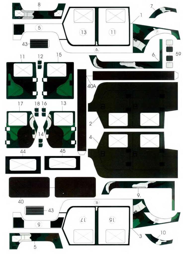 Maquetas de papel de Jeep y Hummer