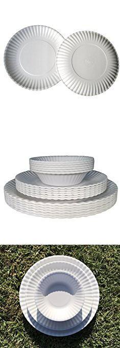 """Melamine Picnic Plates. Picnique Reusable Paper Plate - 9"""" Picnic & Dinner Melamine Plates, Dishwasher Safe, BPA Free - Set of 6 Plates.  #melamine #picnic #plates #melaminepicnic #picnicplates"""