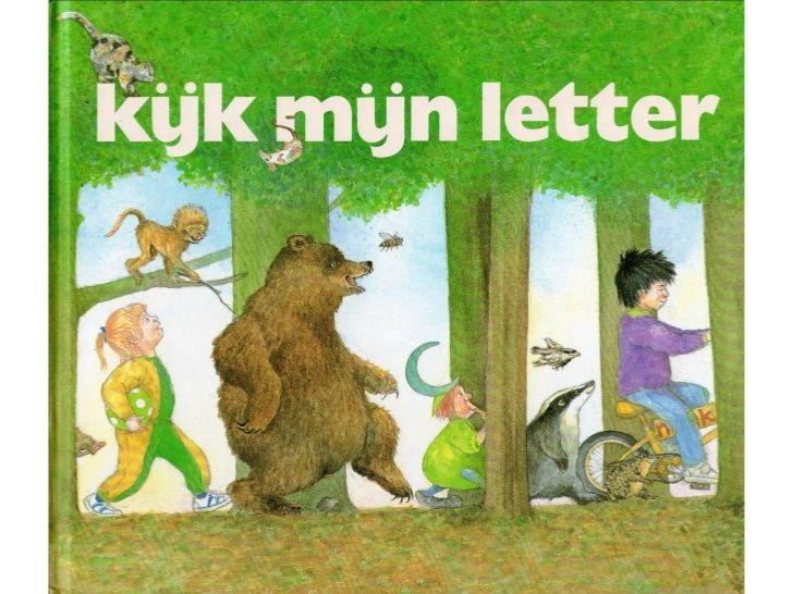 Kijk mijn letter. Boekje met alle letters erin. Bij elke letter staat een versje en plaatjes. Laat de kinderen de letter kleuren waarmee je dan bezig bent. Oefen bij de grote letter de schrijfbeweging.