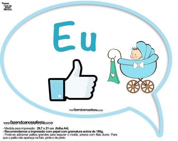 Plaquinhas Divertidas Chá de Bebê Menino 5