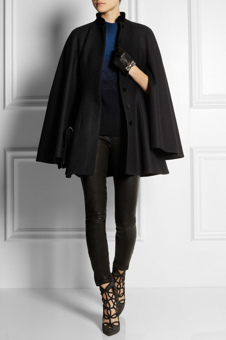 Black leather gloves cape town - An Elegant Cape And Knock Em Dead Cutout Suede Ankle Boots By Oscar De La Black Leather Glovesgloves