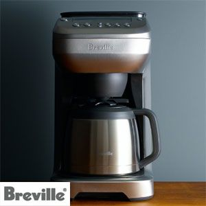 Breville's YouBrew Coffee Maker with grinder is the first grind and brew coffee maker that tailors the brew for a cup, travel mug or carafe.