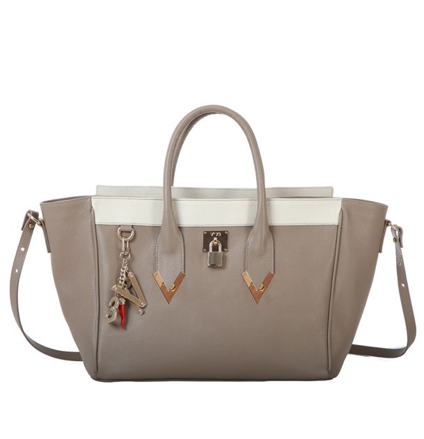 #V73 Elisir Taupe #Bag #Shop online: https://www.v73.us/pelli-pregiate/elisir Spring Summer Collection Leather bagH: 33 CM W: 37 CM D: 15 CM