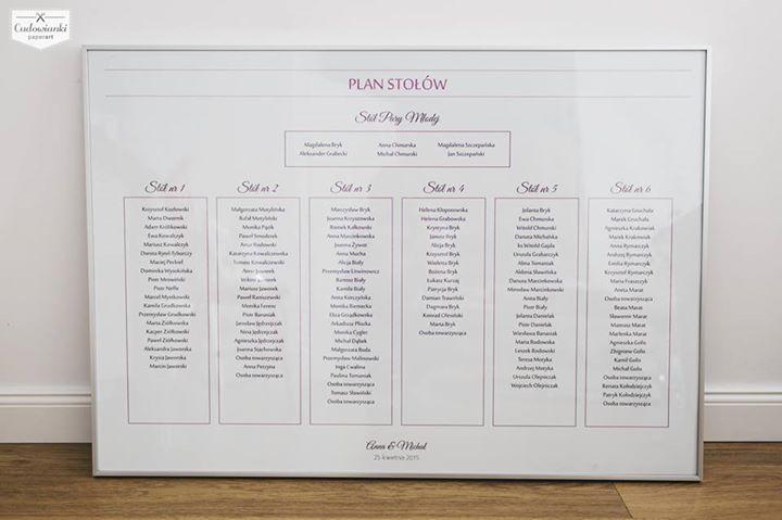 Wedding table plan made of paper. Wedding seating plan display, very subtel, natural, pink, rose. / Plan stołów z różowymi wstawkami. #tableplan #wedding #weddingtableplane #seatingsplan #tableplanidea #weddingdecorations #weddinginspiration