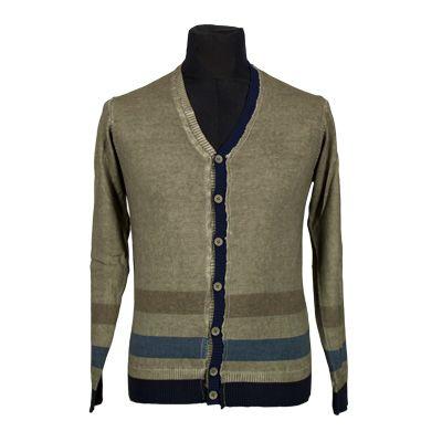 Maglia - NEROVAGO - Maglia in puro cotone manica lunga - Tortora - Estivo. € 24,50. #hallofbrands #hob #maglia #sweater #jersey #knitwear