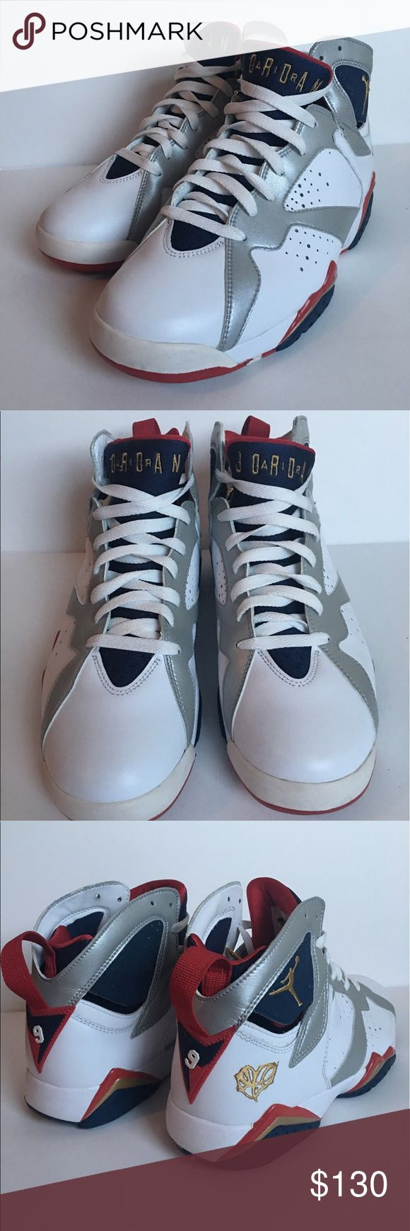 "Nike Air Jordan VII Olympics size 8.5 Nike Air Jordan VII ""For The Love Of The Game"" Olympics men's size 8.5. Excellent condition comes in Original box. Jordan Shoes Athletic Shoes"