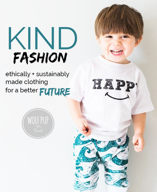 A look at sweatshop free, ethically made clothing production in this blog post by Wolf Pup Threads.