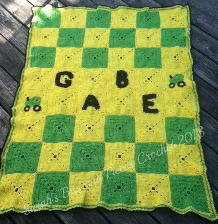 Custom Ordered John Deere inspired afghan. Crochet ...