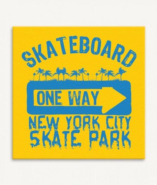 Skateboard canvas wall art