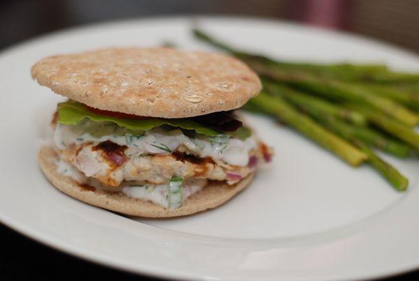 Greek Turkey Burger Recipe - 4 Point Total - LaaLoosh