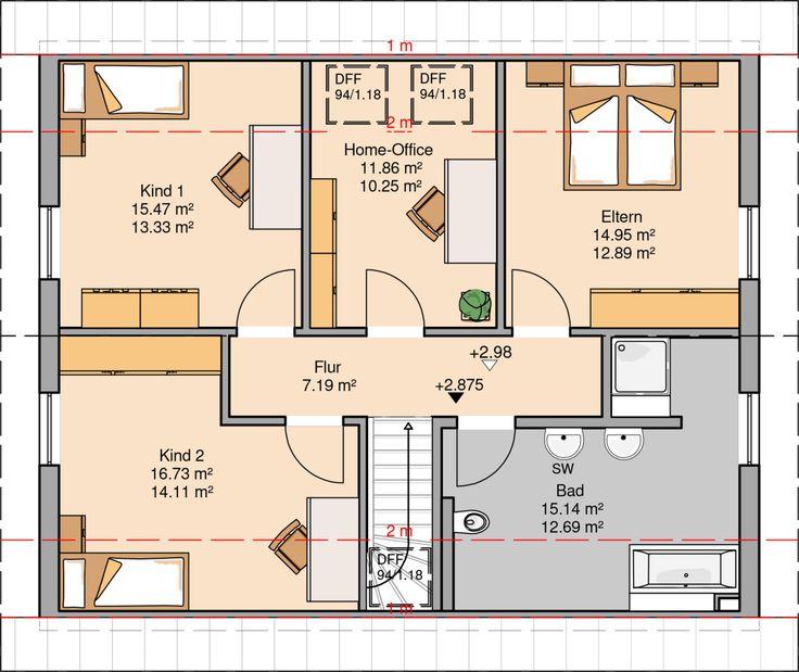 Kern-Haus Familienhaus Signum Grundriss Dachgeschoss