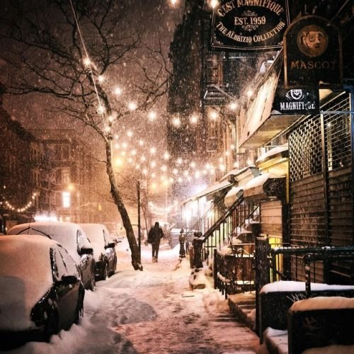East Village, New York City (on the first truly cold night of...