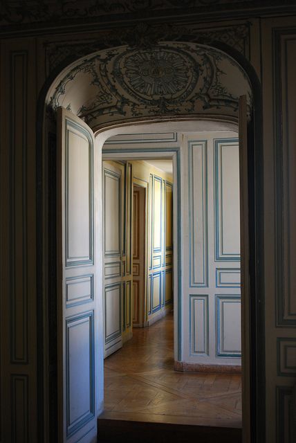 Appartement de Madame du Barry - this is a corridor in Madame du Barry's apartments at Versailles
