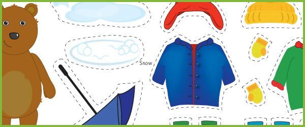 Printables Weather Bear Clothes Dress