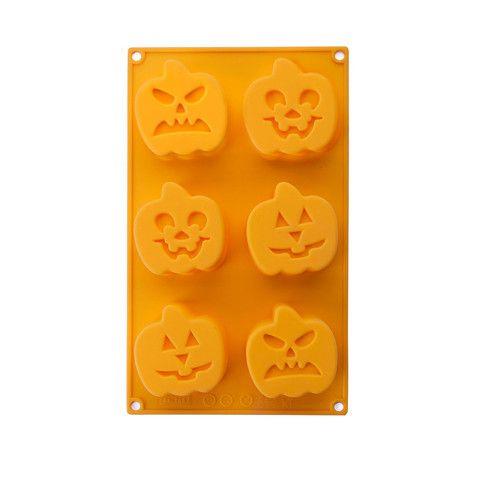 Molde Halloween Calabaza Silicona (6 Cavidades) IBILI – dcocina