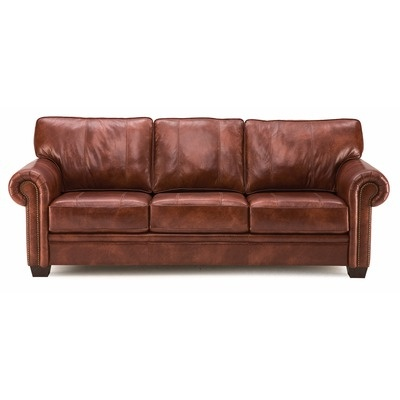 Here is a very traditional brown leather sofa palliser for Traditional brown leather couch