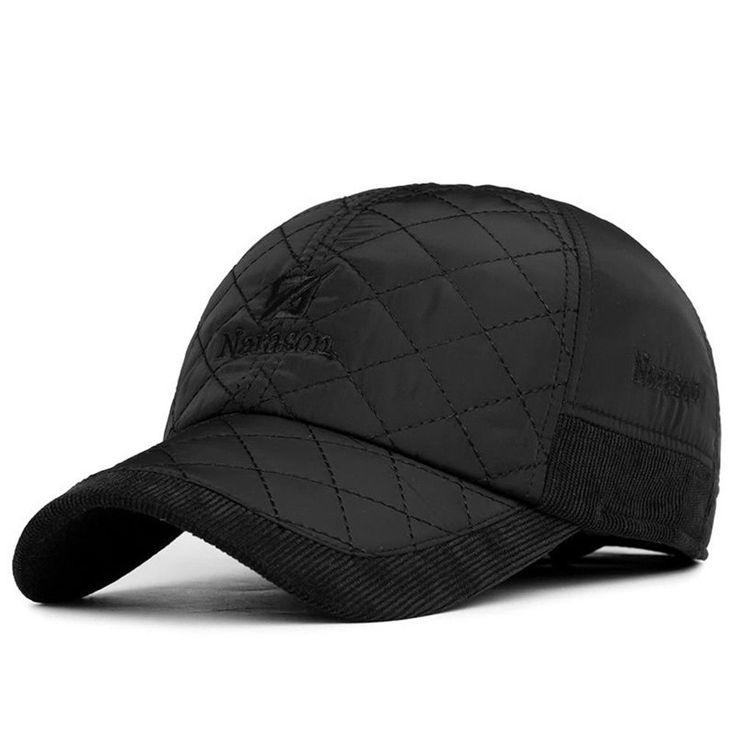 Popular Mens Winter Warm Earflap Earmuffs Baseball Cap Golf Sport Outdoor Hat #Generic #BaseballCap