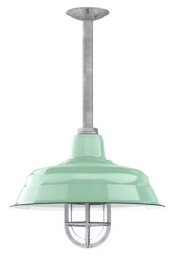Benjamin™ Bomber Porcelain Gooseneck | Decorative Pendant Light Shade - laundry room idea (without cage)