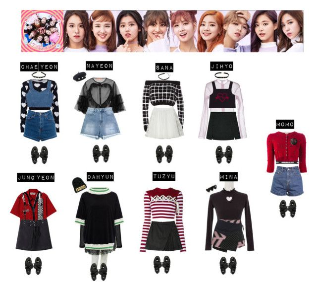 TWICE - 1 TO 10♡ by vvvan99 on Polyvore featuring polyvore fashion style Cynthia Rowley House of Holland P.A.R.O.S.H. Rodarte Steve J & Yoni P Carven Opening Ceremony Pull&Bear GCDS Dr. Martens Hot Topic Topshop Alexander Wang VFiles StyleNanda clothing