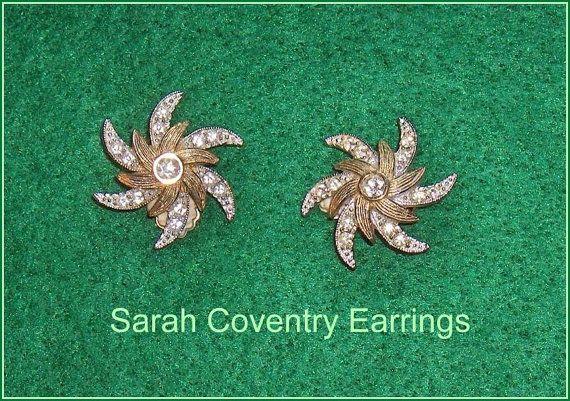 Sarah Coventry Vintage  Clip Earrings  Canada by EttasEmporium