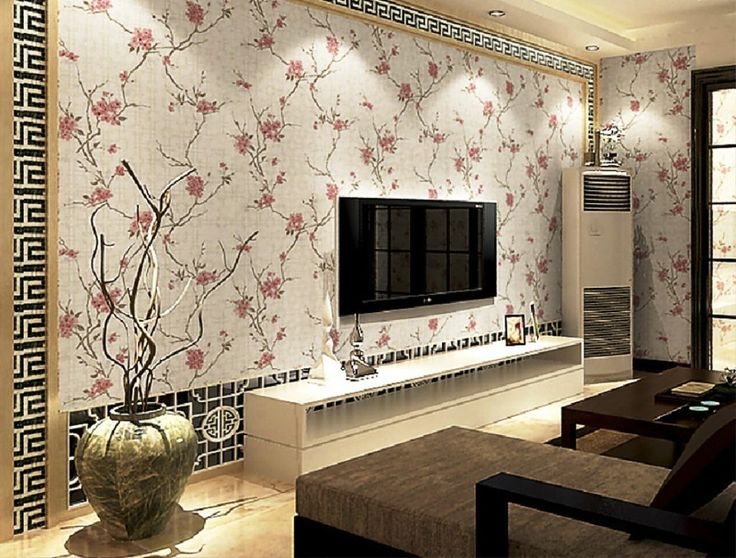 Chinese Style Wallpaper In Living Room TV Background Wall Part 42