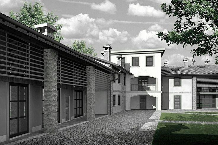 Ristrutturazione cascinale #ivanrivoltella #3d #rendering #visualizationarchitecture #concept