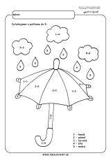 Dáždnik - počítame do 5