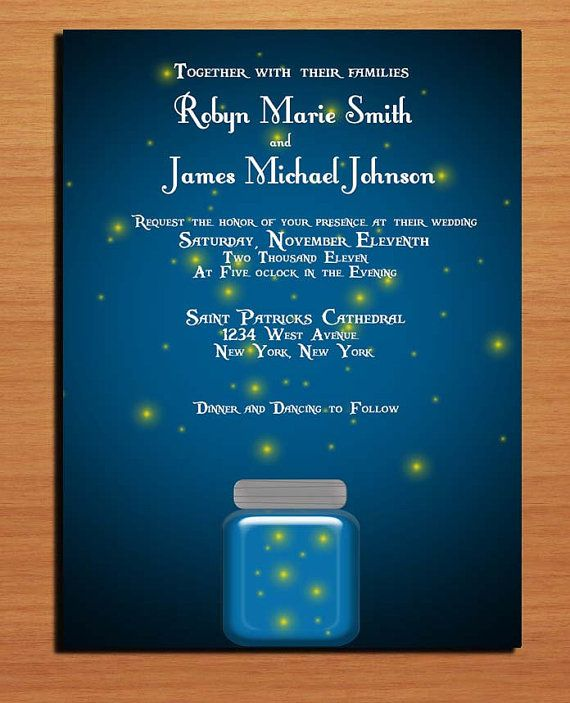Twilight and Fireflies Wedding Invitation by Sapphiredigitalworks, $20.00