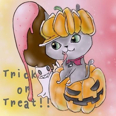 @yochirotan  お待たせしました! sweetなハロウィン希望でしたので甘く可愛く描かせていただきました♡