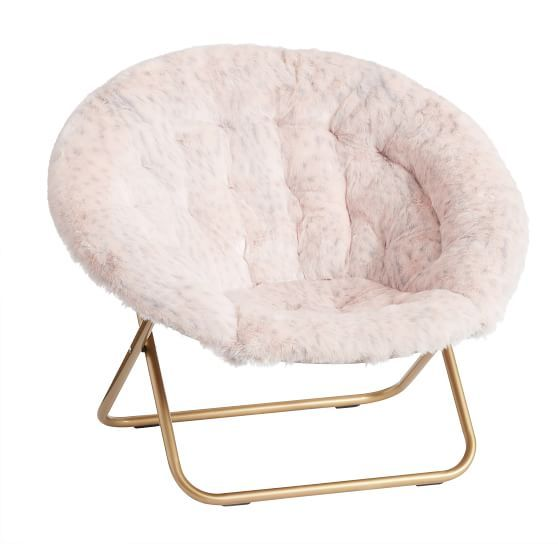 Blush Leopard Faux Fur Hang A Round Chair In 2020 Round