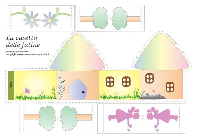 Printable Fairy house - PDF saved. X
