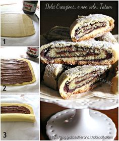 Rotolo di pasta frolla alla Nutella | ricetta dolce passo-passo