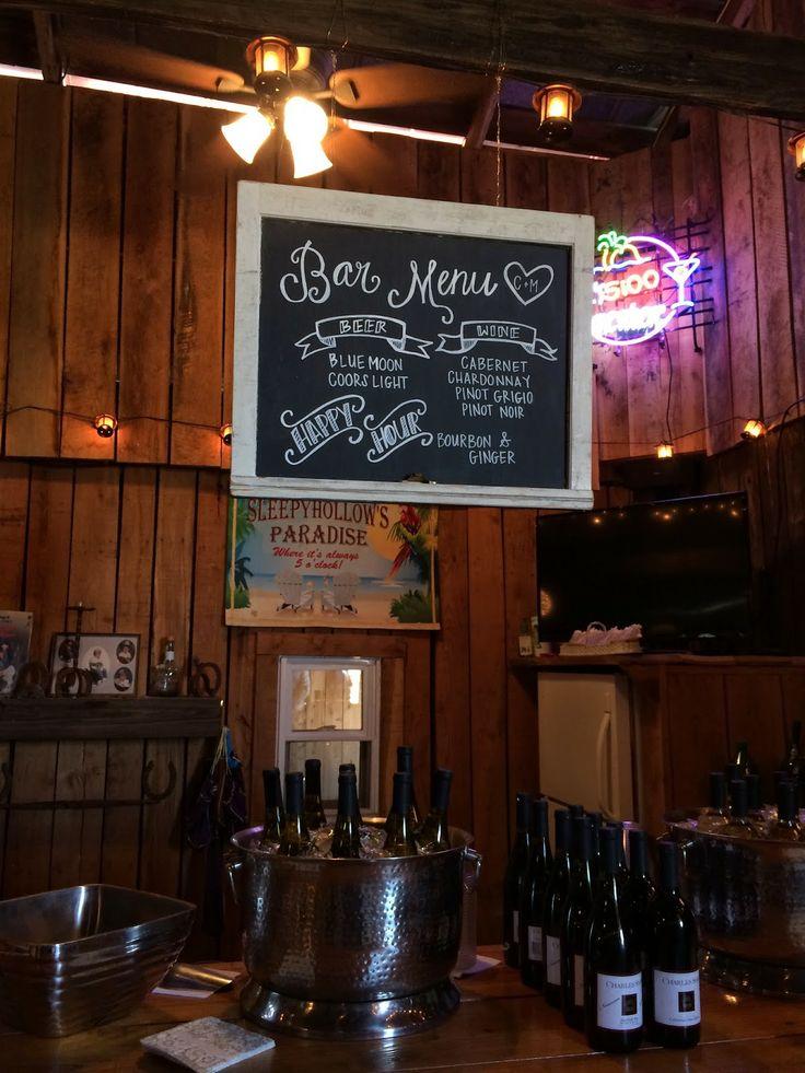 chalkboard bar menu from old window
