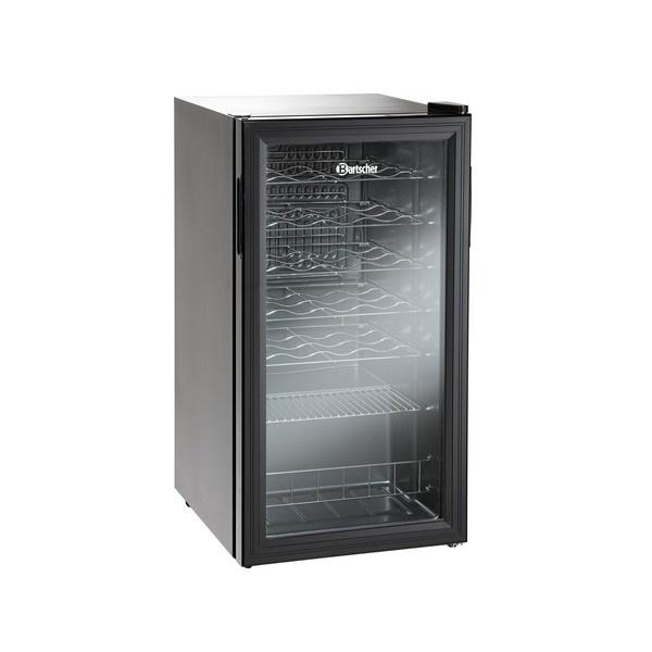 CANTINETTA FRIGO BARTSCHER PER 24 BOTTIGLIE (88 LITRI) MONOFASE ART. 700082G  Cantinetta refrigerata per vino. Tieni alla temperatura ottimale le tue bottiglie di vino. Luci al led Anta con doppio vetro.  Capacità: 28 bottiglie / 88 litri Range temperatura: 4 - 18 °C Gas refrigerante: R600a Illuminazione led a risparmio energetico. Ante incernierata a destra (reversibile) Piedini regolabili a 2 altezze Alimentazione: monofase 220 V 50 Hz Potenza: 0.085 kW Dimensioni:...