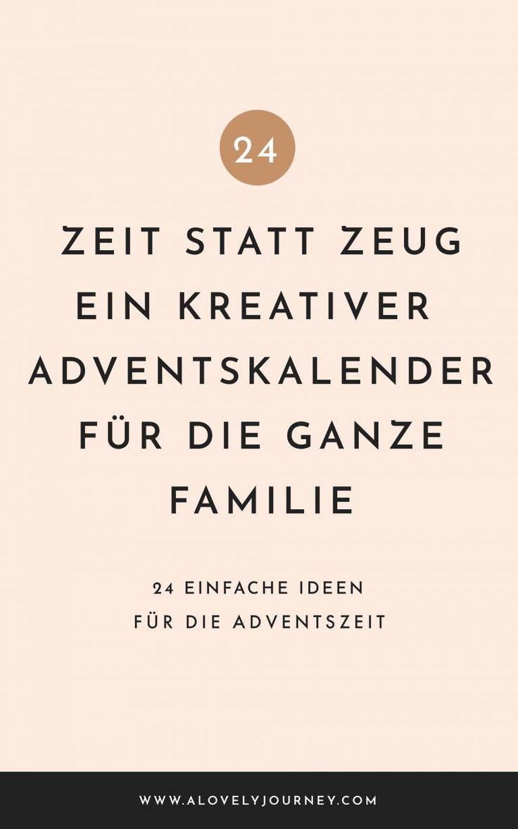 Zeit statt Zeug: Der Geschenk-freie Adventskalender für die ganze Familie