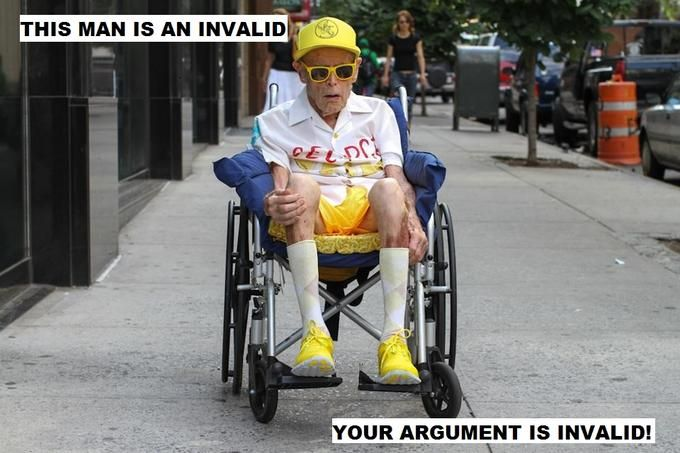 Your argument is as invalid as this invalid.