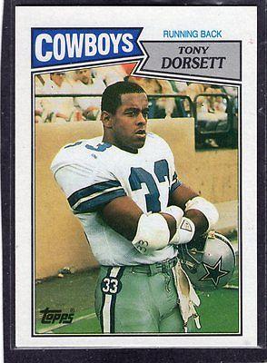 1987 Tarjeta de fútbol TONY DORSETT-Topps - # 263-Dallas Cowboys