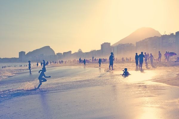 Life in Rio de Janeiro happens on the beach, and the beach epitomizes everything playful, fresh, exciting and yes, a little bit dangerous, in this city. It's the ultimate setting, constantly buzzing with energy. Copacabana
