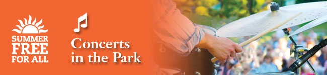 Free concerts in the Parks all across town all summer  August 30- 30's swing music
