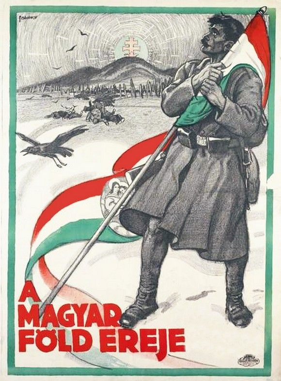 Kingdom of Hungary, Austro-Hungarian Empire, WWI: Hungarian movie poster: A Magyar Föld Ereje (The Strength of the Fatherland), 1916. Directed by	Michael Curtiz.