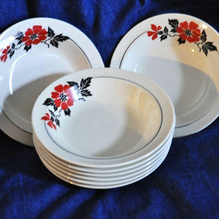 Red Poppy Fruit Bowls & 46 best 1940u0027s Red Poppy Design images on Pinterest | Poppies Poppy ...
