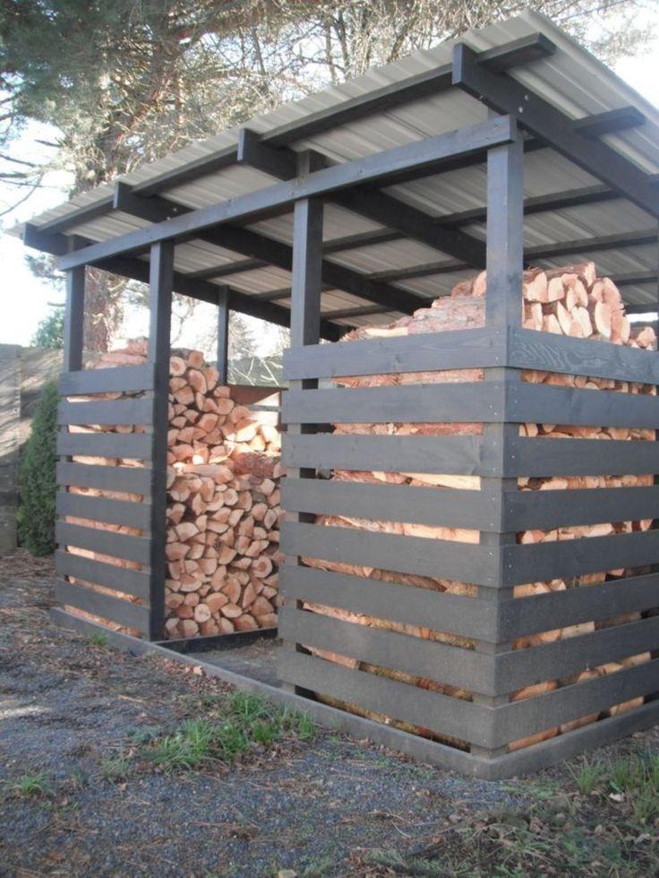 55 Simple DIY Outside Firewood Racks