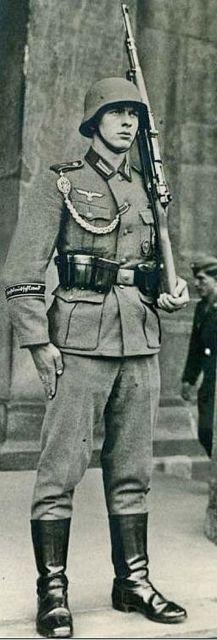 Handsome German soldier, WWII