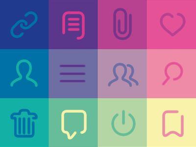 Minimal Icons set for Digital Chat by Duminda Perera