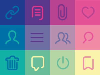 Minimal Icon set for Digital Chat app