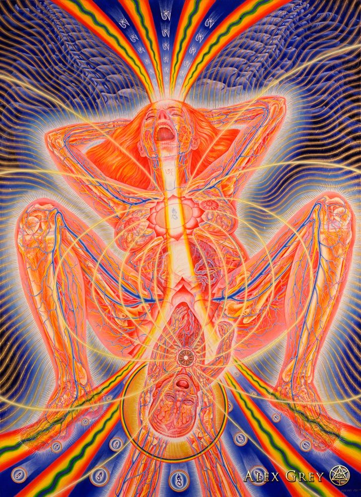 Sacred mirror series. Alex grey
