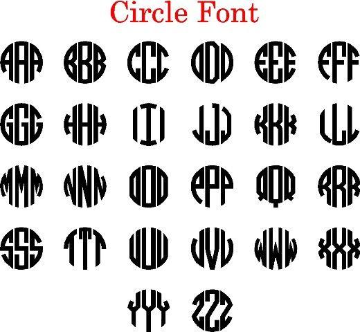 natural circle monogram font