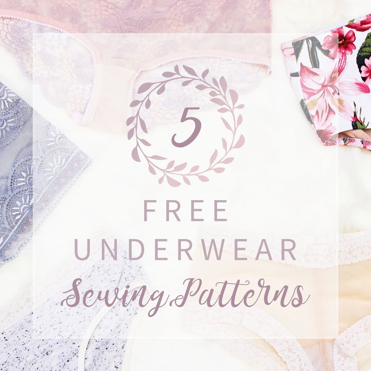5 Free Underwear Sewing Patterns // Bra + Underwear Kit Giveaway
