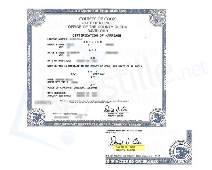 23 best State of Illinois Sample Apostille images on Pinterest - sample marriage certificate